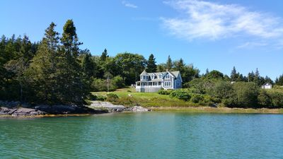 Photo for Waterfront - Gorgeous Shingle Style Island Summer Home; 180 degree water view