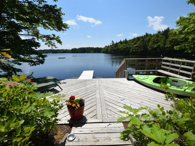 Photo for Beautifu Secluded Beautiful Lakefront Cottage on 62 acres, swimming,  sauna, wi,