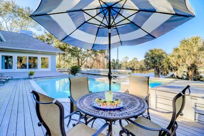 Relax Poolside with amazing views!
