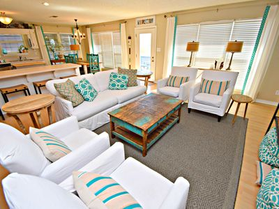 Photo for Gorgeous Beach house just waiting for you! Spend Summer in the sand!
