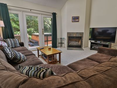 Photo for Family-friendly condo w/ private hot tub - one mile from Sunday River Resort