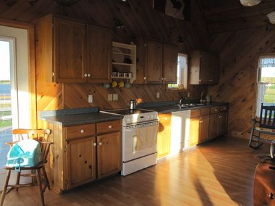 Large kitchen with cathedral ceiling. ALL amenities (including dishwasher!)