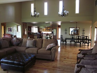 Photo for Luxury Retreat-- Massive Greatroom, Indoor Pool, 5 Full Bathrooms, 2 Fire Places