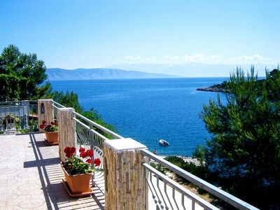 Photo for Villa Hvar Melody, first row to the sea! Yellow apartment - capacity 2+2