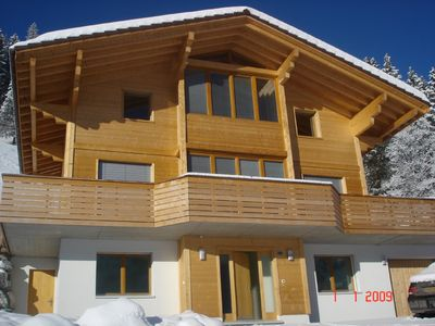 Front elevation of the three storied Chalet
