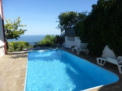 Photo for Beautiful 7 bedroom panoramic views of black sea swimming pool Jacuzzi WiFi A/C