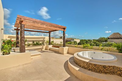 Catch some sun on the roof deck or soak in the Jacuzzi.
