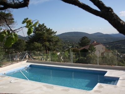 Photo for Chalet with private saltwater pool and barbecue in the Sierra de Madrid