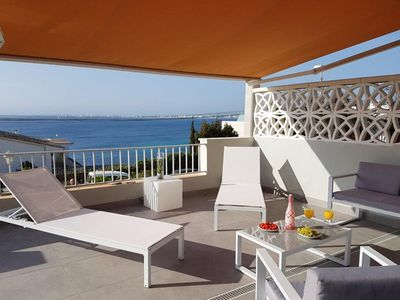 Photo for MAGNIFICENT APARTMENT NEAR PALMA WITH TERRACE AND SEA VIEW