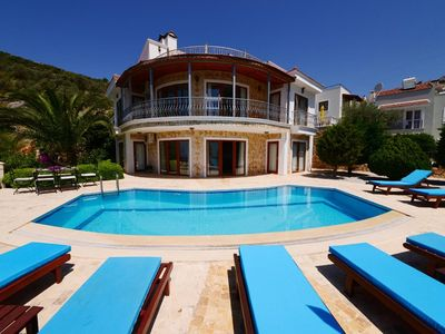 Photo for luxurious brand new five bedroom villa with stunning panoramic sea-views