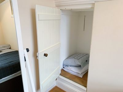Master bedroom- wardrobe, extra bedding