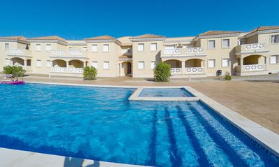 Photo for Apartment with pool 100m from the beach
