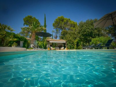 Photo for Exceptional holiday home, Lorgues, Var, swimming pool, beautiful park