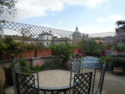 Photo for luxury penthouse in the heart of Rome with two terrific terraces on the domes