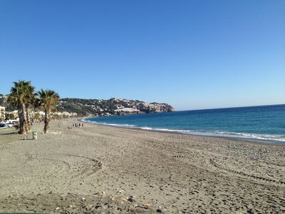 Photo for BEACH FRONT APARTMENT 2 BEDROOMS IN LA HERRADURA WITH SEA VIEWS