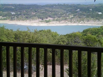 Beautiful views of the lake from large deck