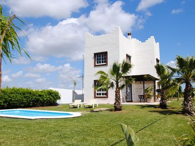 Photo for beautiful large and bright holiday home with sea view and pool. Internet posible