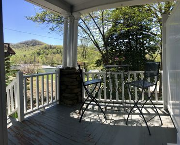Photo for *Bright newly renovated studio w porch and mtn view, steps to downtown