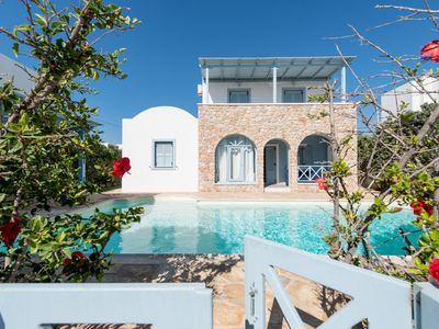 Photo for Monolithos Pool Villa by the Beach