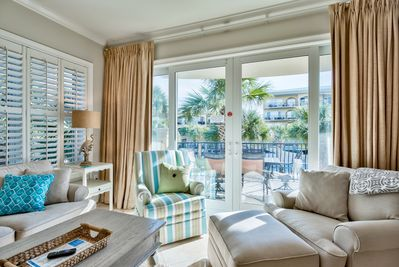Adagio G201 pool front condo - Enjoy YFAB's latest three bedroom condo, freshly painted in late 2018 and updated to our exacting cleanliness standards. Travertine floors have been steamed and polished to a beautiful sheen.