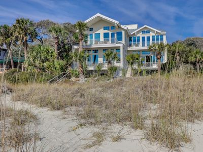 Photo for Huge oceanfront beach home w/ private pool/spa, four decks, & beach access