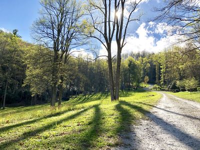 Photo for Private waterfall cottage on 9 acres three miles to main street Hendersonville