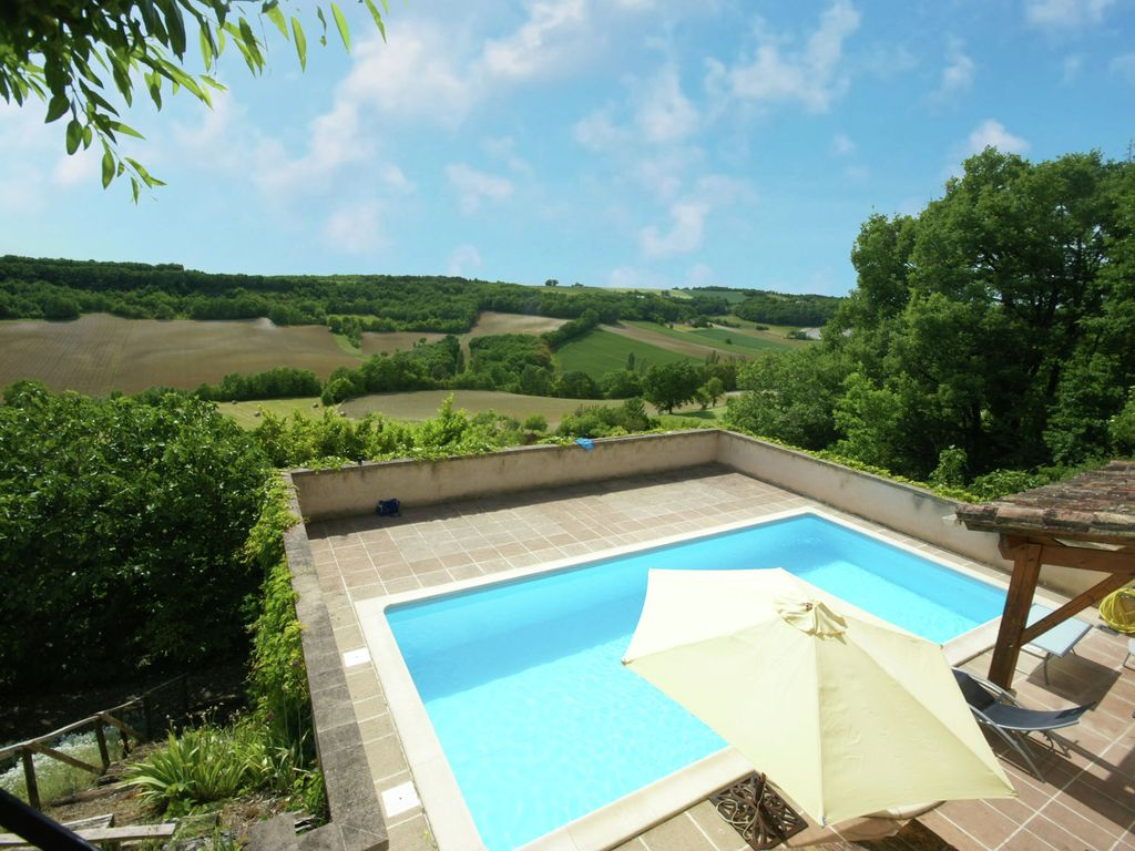 Atmospheric Holiday Home With Private Swimming Pool And Covered Terrace Flaugnac Lot Midi