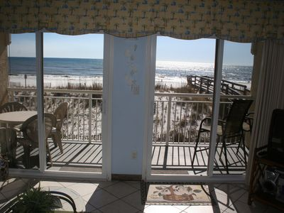 Photo for BEAUTIFUL GULF FRONT UNIT - BEACH SERVICE INCL.! BOOK NOW FOR SPRING AND SUMMER!