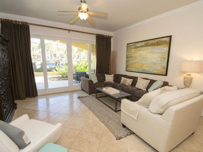 Photo for Ground Floor Corner Unit! Free Beach Service Included! Walk to the Pool from Your Balcony!