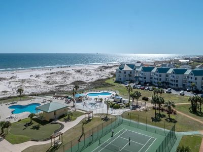 Photo for NEW! Waterfront Gulf-view condo w/shared pools, gym, hot tub at Plantation Dunes