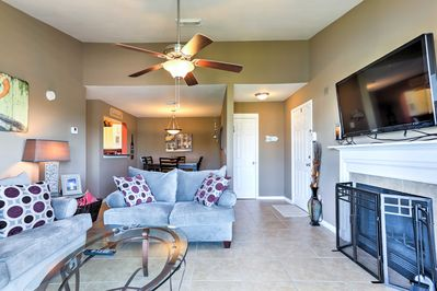 The interior is well-appointed and decorated with style and comfort in mind.