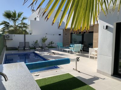 Photo for MODERN NEW CONSTRUCTION VILLA FOR 6 PEOPLE WITH HEATED PRIVATE SWIMMING POOL