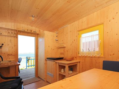 Photo for Red beach car: 15m², 1-room, 2 pers., Terrace - F-1045 Beach car in Gager on Rügen