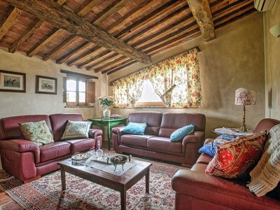 Photo for 8 bedroom Villa, sleeps 14 in Sant'Ambrogio with Pool, Air Con and WiFi