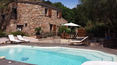 Photo for Independant villa with a swimming pool in Corsica, Palombaggia