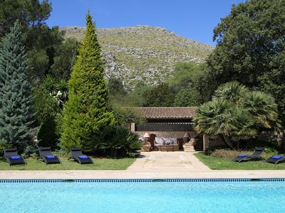 Photo for Mansion Gotmar is a Rustic Mallorcan villa near Puerto Pollensa with private pool and tennis court s