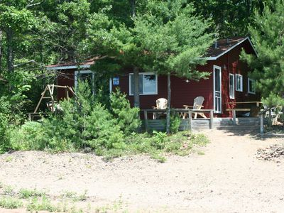Photo for Little Red Cabin On Round Lake in Hayward, Wisconsin ... Northwoods Vacation!