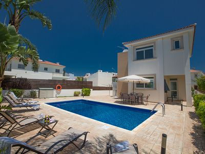 Photo for Villa Merly, Modern 3BDR Protaras Villa with Pool, Close to Fig Tree Bay Beach