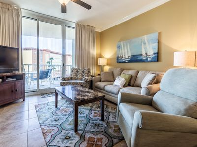 Photo for LET the waves hit your feet and relax in this UPDATED 3 bedroom Azure Condo!!