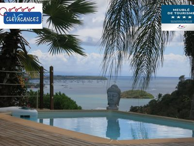Photo for The charming Villa Coco **** and its bungalow with magnificent sea views