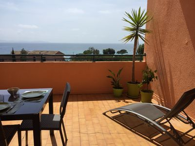 Photo for Rent Grand F1 furnished sea view Boulevard Tino Rossi in Ajaccio