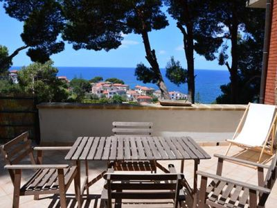 Photo for Casamiacasadicharme 3 Villa divided into 4 terraced apartments with sea view