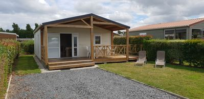 Photo for New chalet close to the sea, 4 people, in residential park