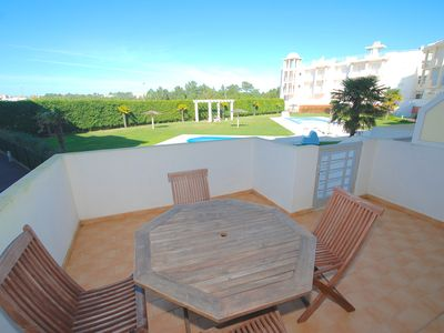 Photo for Barrel - Apartment in complex with 2 pools, partial sea views in Nazaré