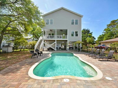 Photo for Dragonfly Dunes, Luxury Rental, Block from Beach, Game Room, Pool, Volleyball Court