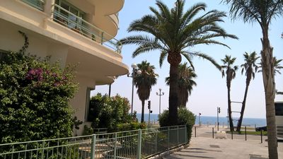 Photo for 2 room sea view in building on the Promenade des Anglais
