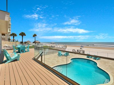 Photo for Newly renovated beach home w/ private pool, deck, balcony & gorgeous ocean views
