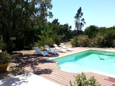 Photo for Beautiful Provencal farmhouse with swimming pool, sea view in 5 500 m2 of garden