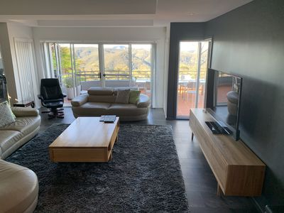 Lounge room with national park view