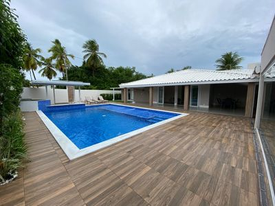 Superb house with 5 bedrooms, swimming pool, Villa Paradise, Guarajuba